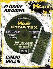 braided K-Karp Elusive Camo Green 20mt trecciato finali carpfishing dynema