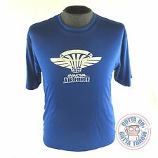 Innova AIR FORCE Rapid-Dry Short Sleeve Disc Golf T-Shirt BLUE MANY SIZES