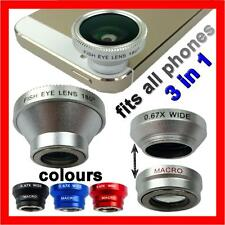 Camera Lens Fish Eye Wide Angle Macro Kit for Apple iPhone 5S 5C 5 4S 4 iPad Air