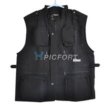 New Cotton photographer photo vest Black 3 sizes for Nikon fans D5000 D90 D700