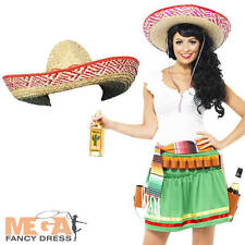 Tequila Shooter Girl + Hat Mexican Fancy National Dress Ladies Western Costume
