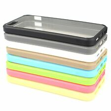 Hybrid Fusion Clear Back Slim Bumper Protector Skins Case Cover for  iPhone 5 5S