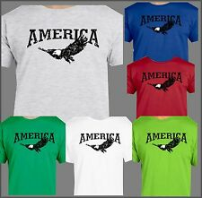 AMERICAN PROUD EAGLE T-SHIRT PATRIOT USA STRONG BIRDS OF PREY