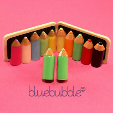 FUNKY PENCIL CRAYON EARRINGS CUTE KITSCH SWEET KAWAII MAKE UP ARTIST COOL SCHOOL