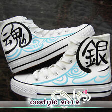 Gin Tama Cosplay Casual Shoes Silver Soul Anime Casual Canvas Shoes Mens Sneaker