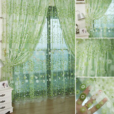 Fully Stitched Window Panel Drape Curtains Curtain Door Room Divider Sheer Voile