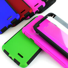 For LG Realm LS620 Boost Hybrid Armor Protective Slim Hard Case Cover w/Screen