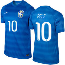 NIKE PELE BRAZIL AUTHENTIC AWAY JERSEY FIFA WORLD CUP BRASIL 2014 BLUE