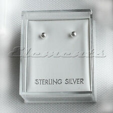 PLASTIC CLEAR TOP LID STUD EARRINGS DISPLAY BOXES WITH WHITE PADS ST.SILVER TOP
