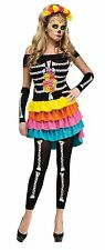 Womens Sexy Day of the Dead Costume Fancy Dress Dia de los Muertos Adult NEW