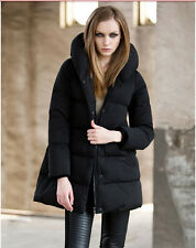 Women Winter white duck down Thickening Jacket Long Warm Stand-up Collar Coats