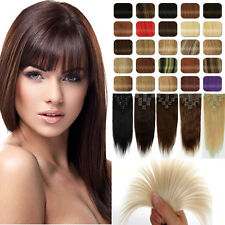"""Ultimate 13""""~22""""CLIP IN 100% HUMAN HAIR EXTENSIONS BLACK BLONDE Factory Price D5"""