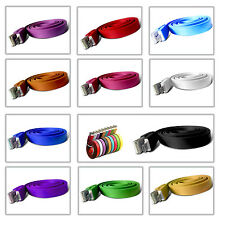 1M NOODLE RIBBON MICRO USB CHARGER CABLE LEAD WIRE FOR BLACKBERRY 9800/9810 TORC