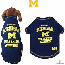 NCAA Pet Fan Gear MICHIGAN WOLVERINES Dog Shirt for Dogs BIG SIZE XS-XL