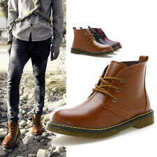 NEW Mens Fashion British Stylish Leather Boots High Casual Dress Formal Shoes