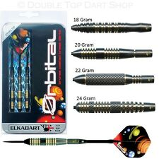 ElkaDart Orbital Black Bronze Brass Steel Tip Darts - 18g 20g 22g 24g MADE IN UK