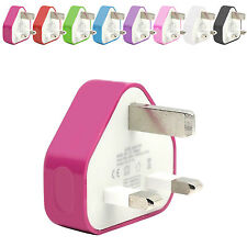 CE COLOUR PLUG WALL MAINS USB CHARGER ADAPTER FOR HTC DESIRE HD