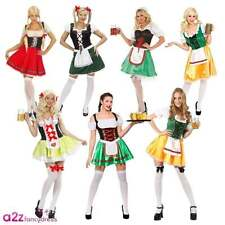 LADIES SEXY BEER GIRL WENCH OKTOBERFEST BAVARIAN MAID FANCY DRESS COSTUME OUTFIT