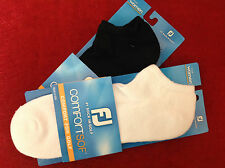 FootJoy Golf ComfortSof Low Cut Womens Golf Socks-Choose Black or White