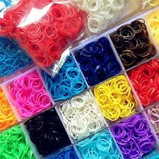 Rainbow Loom / DIY Loom Refill Rubber Bands (600pcs) + Clips (24 pcs)+ Hook(1pc)