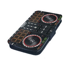 DJ Decks Mix Sound Printed Faux Leather Flip Phone Cover Case