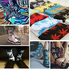 Harajuku Printed Marijuana Weed Leaf Crew Plant Life Cotton High Sock Ankle