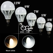 220V E27 Warm/Cool White 3W-12W LED Energy Saving Globe Light Ball Lamp Bulb