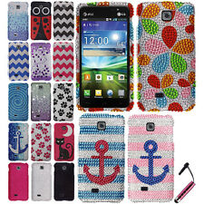 FOR LG ESCAPE P870 SALEEN 870 Waterfall HARD Bling Case Protector Cover + Pen