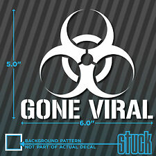 "Gone Viral Biohazard Video - 6"" x 5"" - vinyl decal sticker die-cut youtube meme"