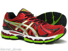 Asics Nimbus 15 Chinese Red Silver Lime Mens Running Shoes NEW  T3B0N 2593