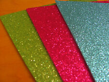 "6 GLITTER FOAM SHEETS  (Eva Sheets) For Fofuchas Doll (Craft foam) 11""X 8 1/2"""