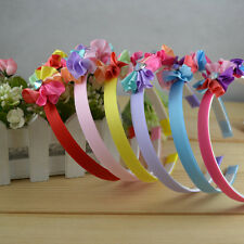 Handmade Children's Jewelry Mixed Color Flowers Cute Headband For Girls 6 Colors