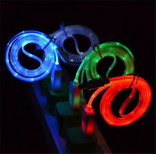 HOT LED Neon Light USB Data Sync Cable Charger Cord For Iphone Samsung Cellphone