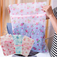 Floral Clothes Bra Underwear Socks Zipper Washing Laundry Bag Mesh  Hot Sale J