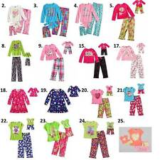 "Dollie Me 6 6X 7 8 10 12 14 and 18"" doll matching Pajama set ft american girl"