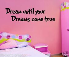 Dr Seuss DREAM UNTIL YOUR DREAMS COME VINYL DECAL WALL STICKER QUOTE WHY FIT IN