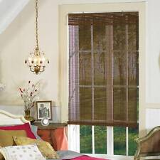 NEW! Beautiful Light Filtering Fruitwood Bamboo Woven Roll Up Window Shade