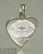 Photo Engraved Heart Pendant - Have your photo and text permanently engraved
