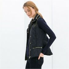 NWT_ZARA Quilted waistcoat  Navy blue_Size S