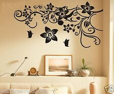 flower vine wall decal art sticker living room decor TV background