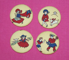 LITTLE NURSERY RHYME FABRIC COVERED BUTTONS available in 40mm
