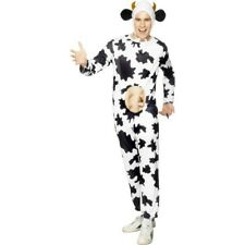 Adult Cow Costume Unisex Mens Womens Fancy Dress Halloween Utters Animal Udders
