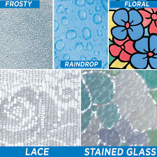 NEW Self Adhesive Patterns Vinyl Privacy Glass Window Film Tint