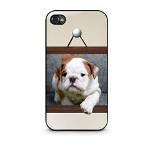 Hot New Bulldog Puppy Cover Case for Apple Iphone 4, 4s, 5, 5s, 5c Free Shipping