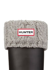 HUNTER DUAL CABLE KNIT BOOT SOCKS  GREY