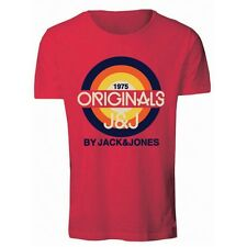 6443 Jack & Jones Men's Sports T-Shirt T - Shirt Red New