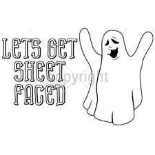 Let's Get Sheet Faced Funny Halloween Ghost T-Shirt All Sizes & Colors