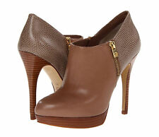 2013 Michael Kors MK YORK Dark Dune Python Embossed Ankle Bootie Boots Shoes 10
