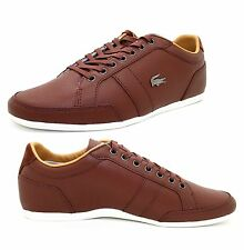 New Lacoste Men's Alisos 16 Brown Leather Lace up casual Fashion Shoes Sneakers
