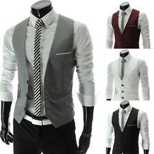 Billig Herren Slim Fit Blazer Mantel Weste Formal Business Jacken Anzug Sakkos